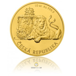 10 Unzen Gold Tschechischer Löwe 2018