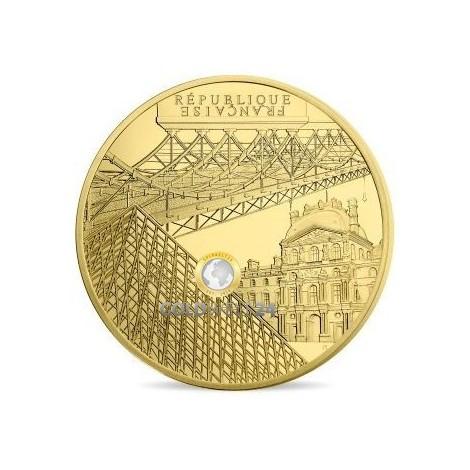 1 Unze Gold 200€ Louvre PP