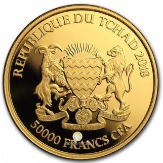 1 Unze Gold Mandala Nashorn Tschad 2018
