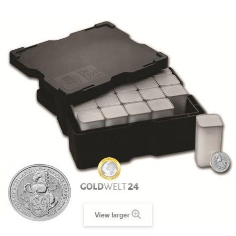 200*2 Unzen Silber Queens Beasts Einhorn 2017