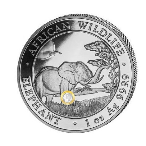 1 Unze Silber Somalia Elefant 2019
