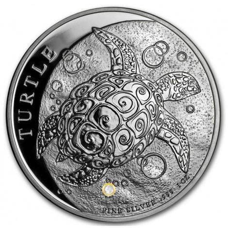1 Unze Silber Niue Schildkröte Fiji Taku 2019
