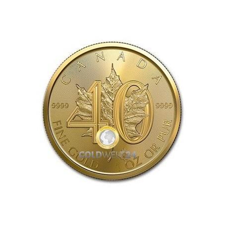 1 Unze Gold Maple Leaf 2019 40 Jahre Jub.