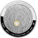 1 kg Silber Atztekenkalender 2017 (Polierte Platte)