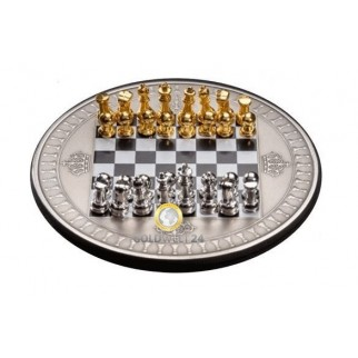2 Unzen Silber Schachbrett Münze