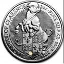 2 Unzen Silber Queens Beasts Bull of Clarence 2018