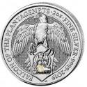 2 Unzen Silber Queens Beasts Falcon of the Plantagenets
