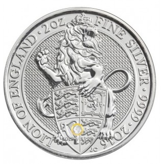 2 Unzen Silber Queens Beasts Lion of England