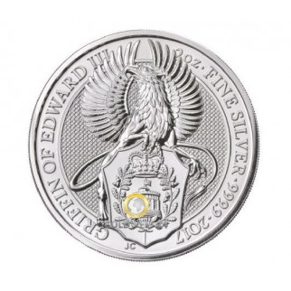 2 Unzen Silber Queens Griffin of Edward III.