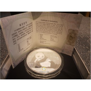 1 kg Silber China Panda 2015 (Polierte Platte)