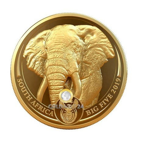 1 Unze Gold Big Five Elefant 2019 PP