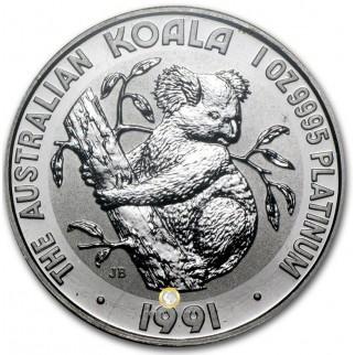 Platin Koala 1 Unze 1991
