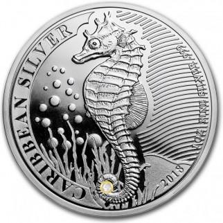 1 Unze Silber Caribbean Seahorse