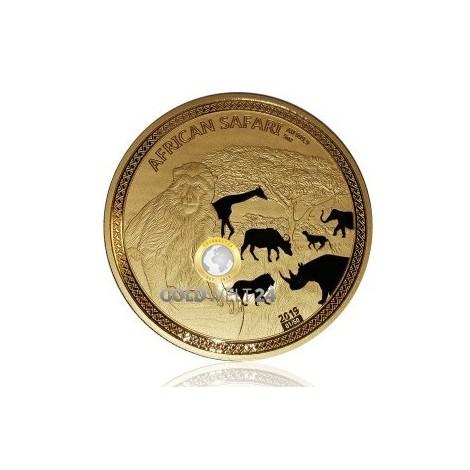 5 Unzen Gold African Safari Affe 2019 PP