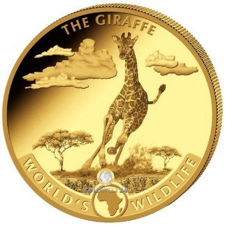 5 Unzen Gold World´s Wildliffe Giraffe 2019 PP