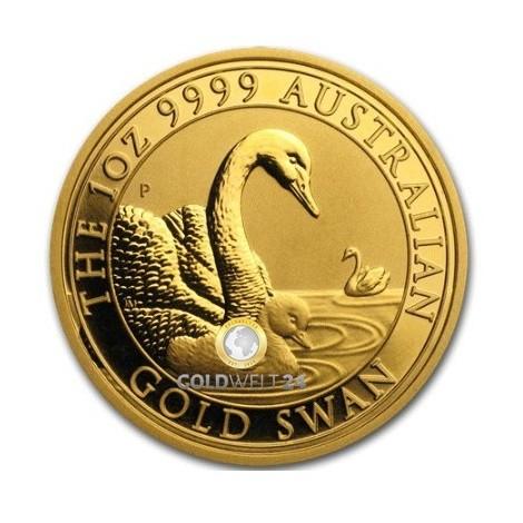 1 Unze Gold Australien Schwan 2019