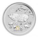 10 kg Silber Lunar Schwein 2019