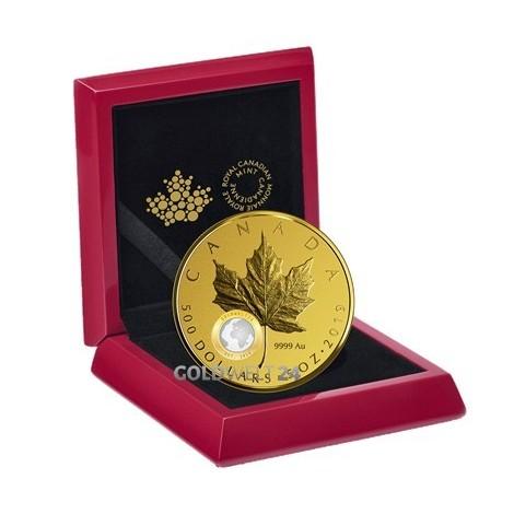5 Unzen Gold Maple Leaf 2019 PP 40 Jahre