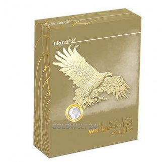 1 Unze Gold Wedge Tailed Eagle 2019 High Relief PP