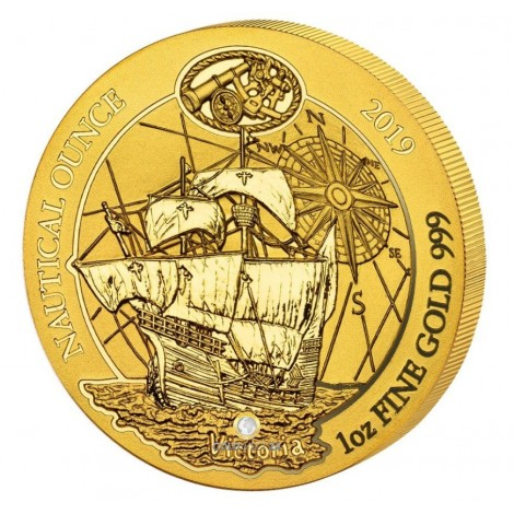 1 Unze Gold Ruanda Nautical Ounce Victoria 2019