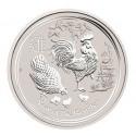 10 Unzen Silber Lunar II Hahn 2017