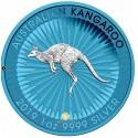 1 Unze Silber Känguru Space Blue 2019