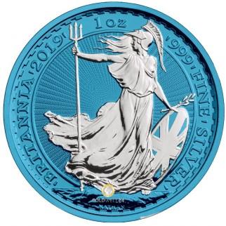 1 Unze Silber Britannia Space Blue 2019