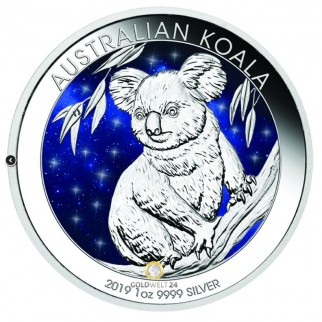 1 Unze Silber Australien Koala Glowing Galaxy 2019
