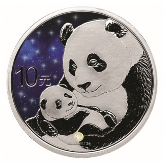 30g Silber China Panda Glowing Galaxy 2019