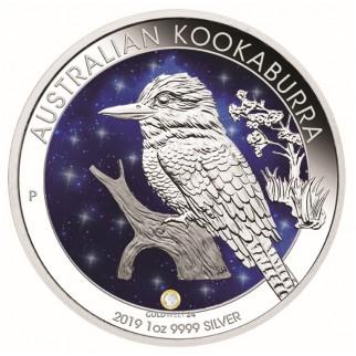 1 Unze Silber Australien Kookaburra Glowing Galaxy 2019