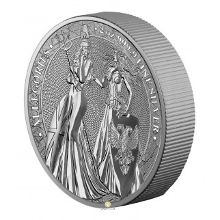 2 Unzen Silber 10 Mark The Allegories Britannia & Germania 2019
