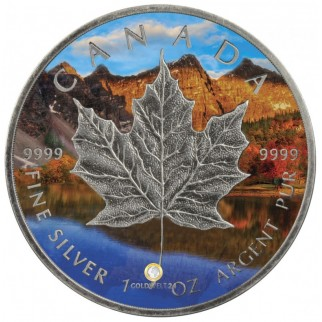 1 Unze Silber Maple Leaf Four Seasons Autumn Antik Finish