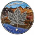 1 Unze Silber Maple Leaf Four Seasons Autumn Antik Finish