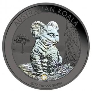 1 Unze Silber Australien Koala Ruthenium