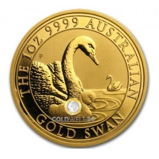 1 Unze Gold Australien Schwan High Relief 2019