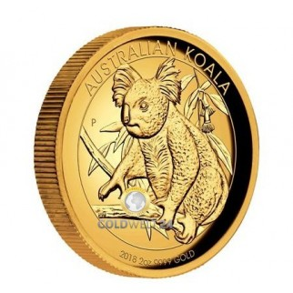 2 Unzen Gold Koala High Relief 2018
