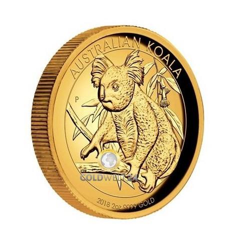 2 Unzen Gold Koala High Relief 2018