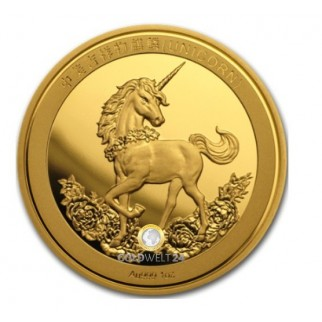 1 Unze Gold China Unicorn 25th Anniversary 2019