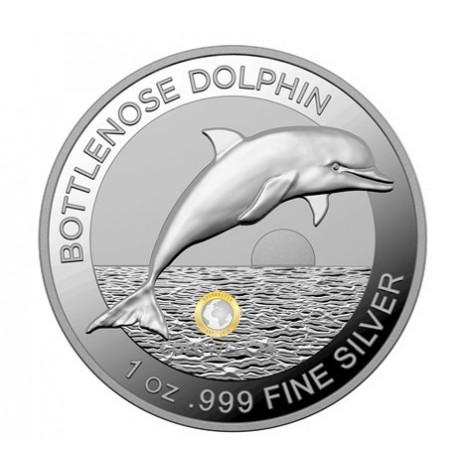 1 Unze Silber Bottlenose Dolphin (Delfin) 2019 PP