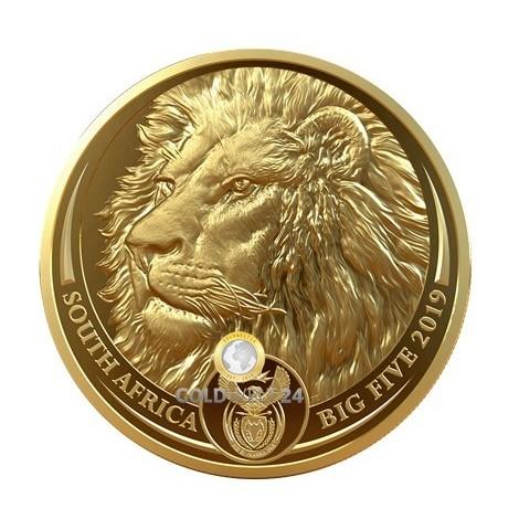 1 Unze Gold Big Five Löwe 2019 PP