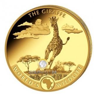 1 Unze Gold World´s Wildlife Giraffe 2019