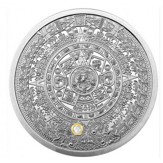 2 Unzen Silber Atztekenkalender