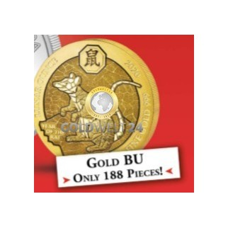 1 Unze Gold Ruanda Lunar Ratte 2020