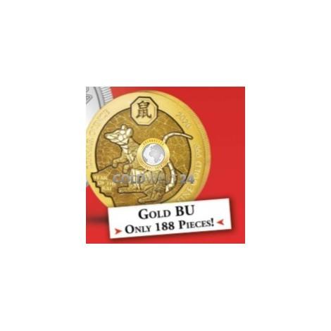 1 Unze Gold Ruanda Lunar Schwein 2019