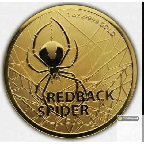 1 Unze Gold Redback Spider 2020