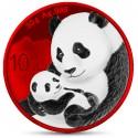 1 Unze Silber Wiener China Panda Space Red 2019