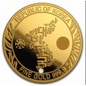 1 Unze Gold South Korea Tiger 2019