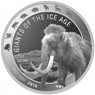 1 Unze Silber Giganten der Eiszeit - Wollmammut 2019
