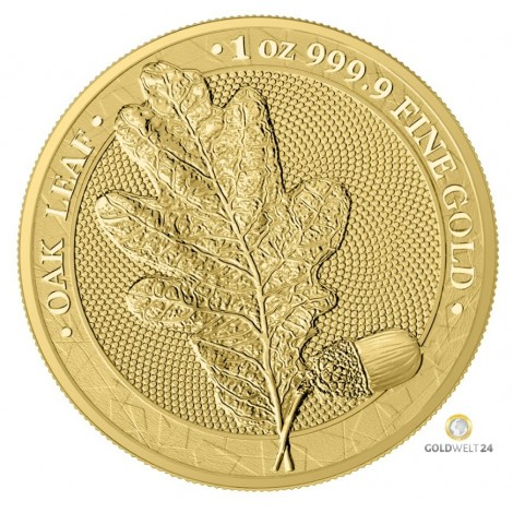 1 Unze Gold Oak Leaf 2019