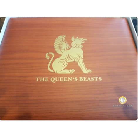 Münzbox Queens Beasts 2oz Silber